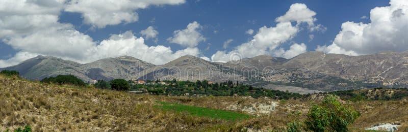 Paisaje panorámico Kefalonia Grecia imagen de archivo libre de regalías