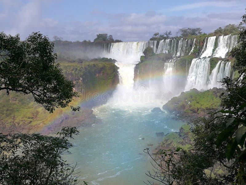 paisaje perfecto de las cataratas del Iguazú - la Argentina imagenes de archivo