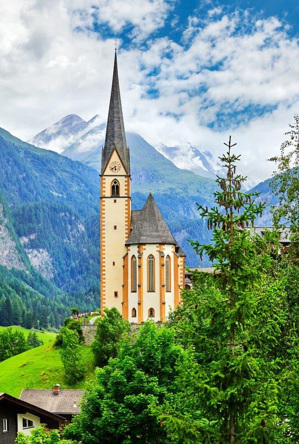 Paisaje pintoresco de Heiligenblut Carinthia Austria en montaña foto de archivo libre de regalías