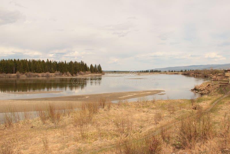 Paisaje, río foto de archivo