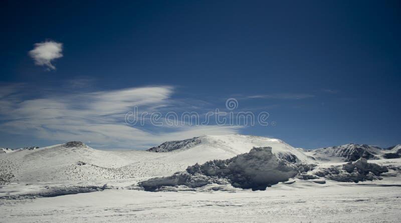 Paisaje-RILA del invierno fotos de archivo libres de regalías