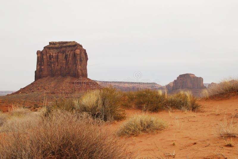 Paisaje rojo del desierto del valle del monumento imagen de archivo libre de regalías