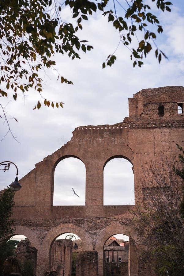 Paisaje romano de la ruina en Roma fotos de archivo