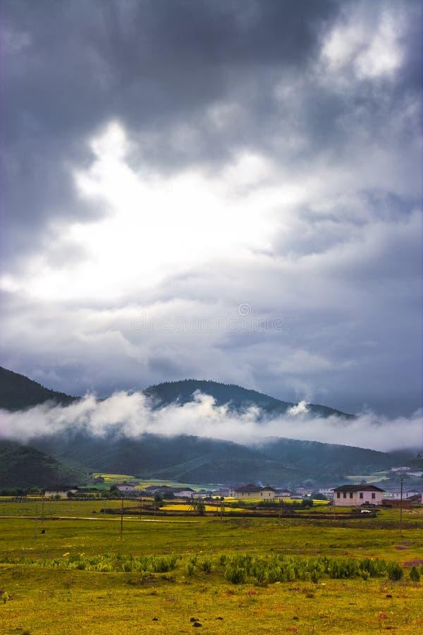 Paisaje rural chino fotografía de archivo