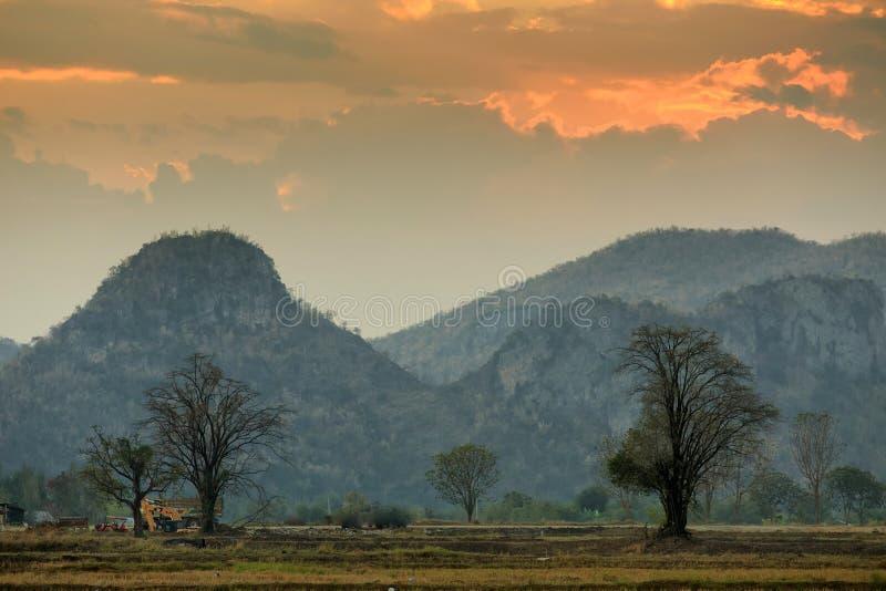 Paisaje rural de Kanchanaburi fotografía de archivo libre de regalías