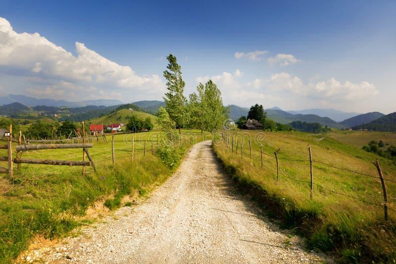 Paisaje rural de Rumania foto de archivo