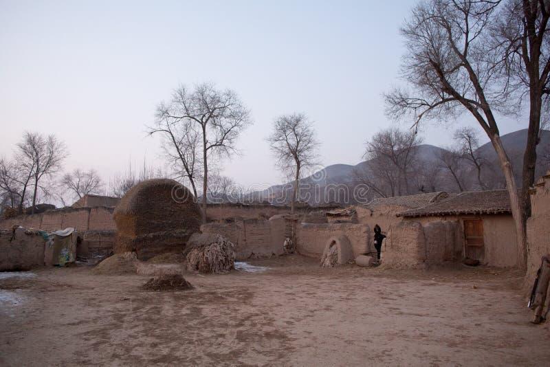 Paisaje rural del noroeste chino fotos de archivo libres de regalías