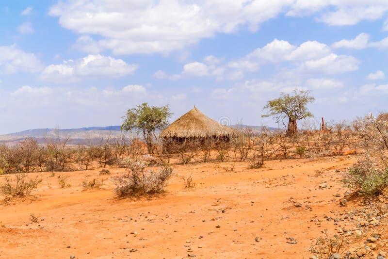 Paisaje rural en Etiopía fotografía de archivo