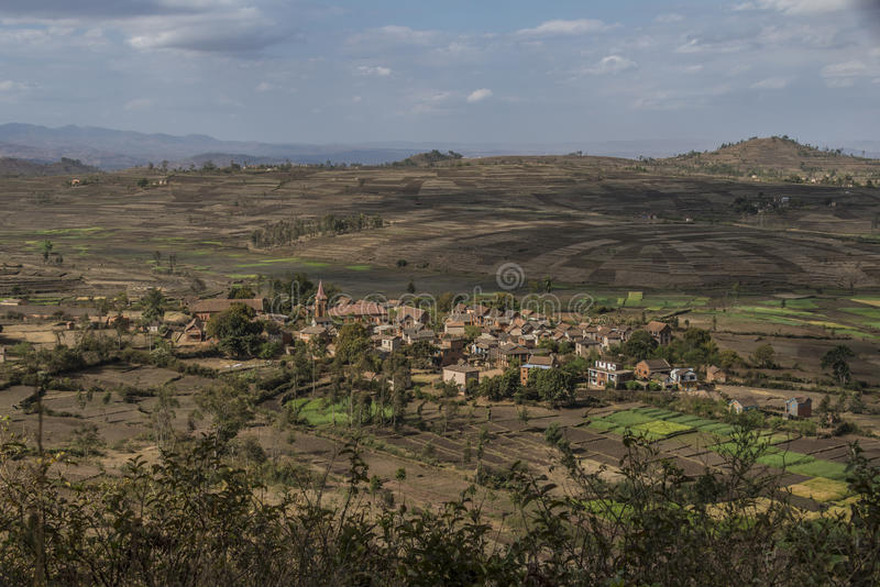 Paisaje rural en Madagascar imagen de archivo