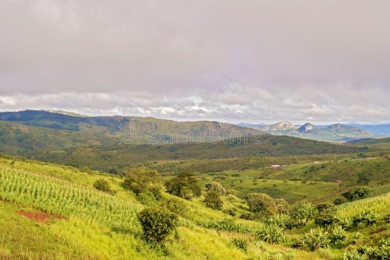 Paisaje rural en Malawi imágenes de archivo libres de regalías