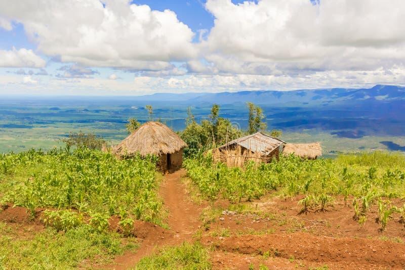 Paisaje rural en Tanzania imagen de archivo libre de regalías