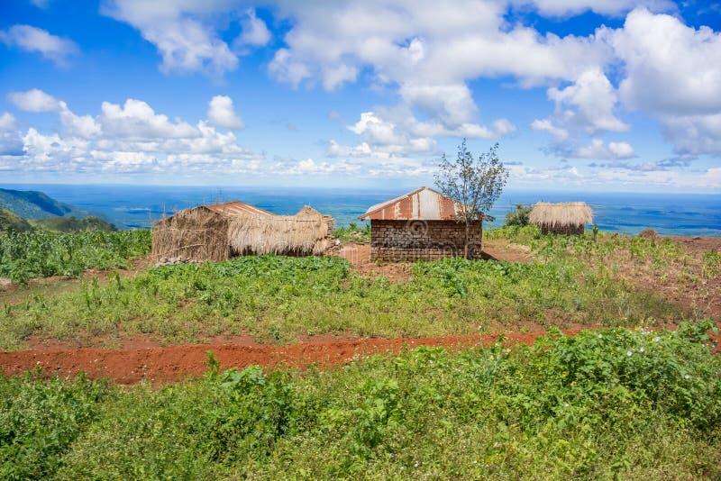 Paisaje rural en Tanzania imagenes de archivo