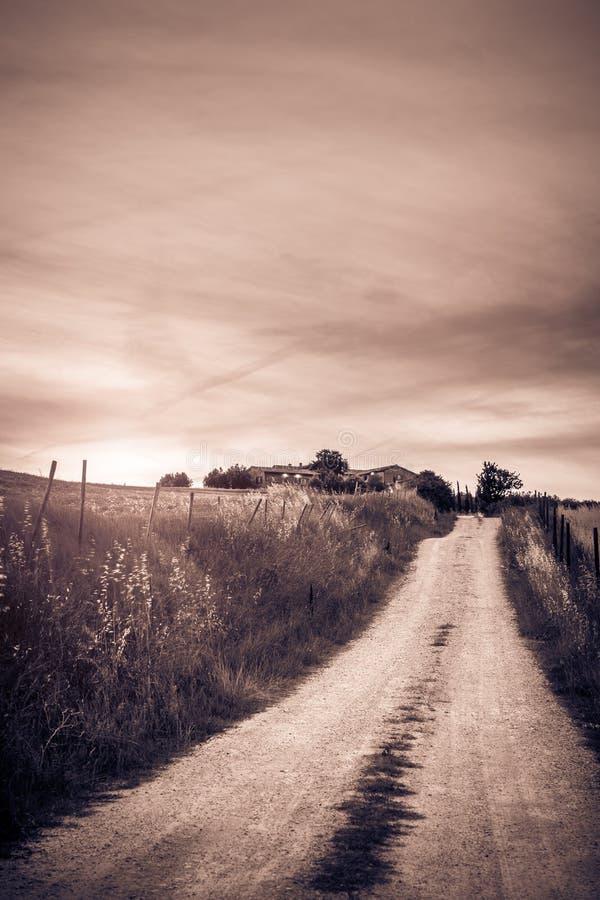 Paisaje rural toscano fotografía de archivo