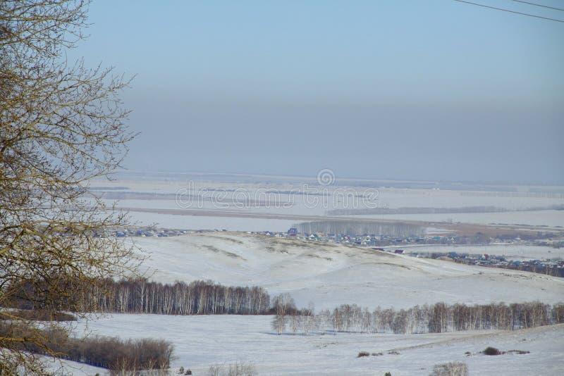 Paisaje ruso blanco del invierno foto de archivo libre de regalías