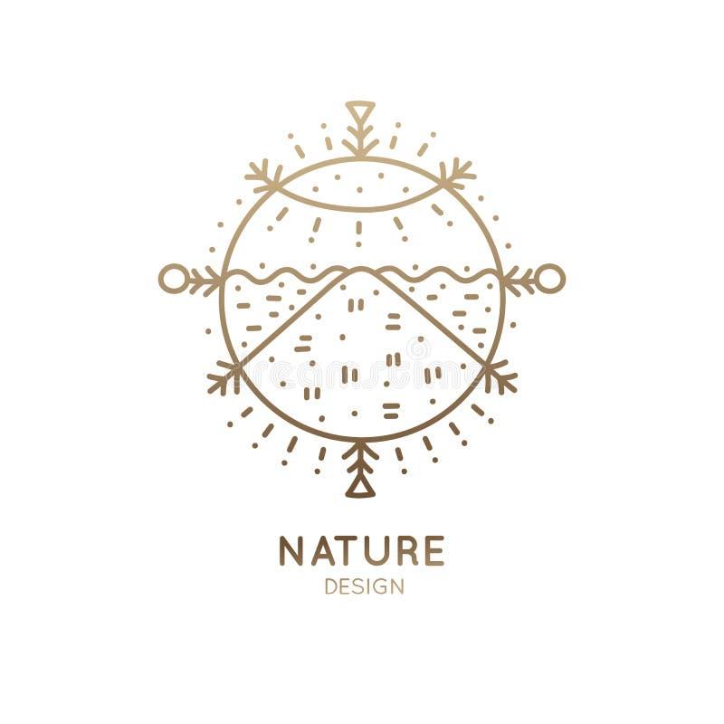 Paisaje sagrado del logotipo ilustración del vector