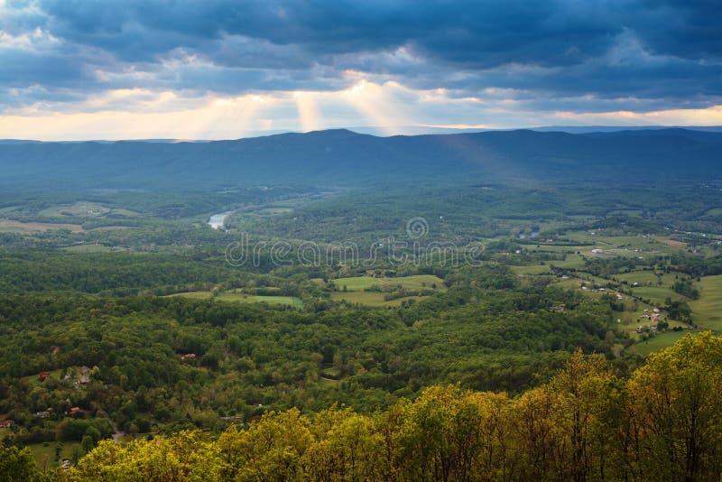 Paisaje Shenandoah Valley Virginia imagenes de archivo