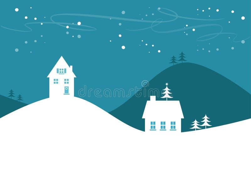 Paisaje simple del invierno/de la Navidad libre illustration