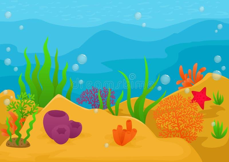 Paisaje subacuático stock de ilustración