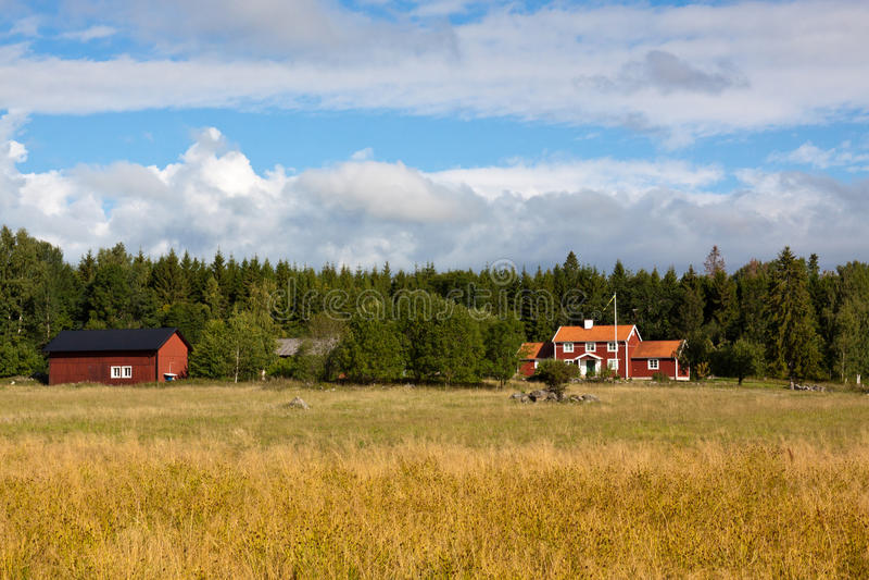 Paisaje sueco imagen de archivo