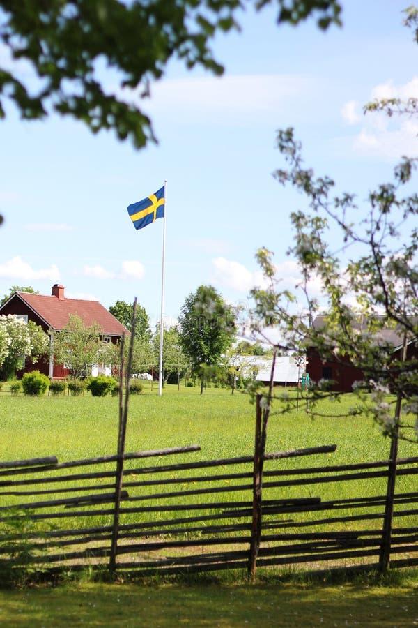 Paisaje sueco típico foto de archivo