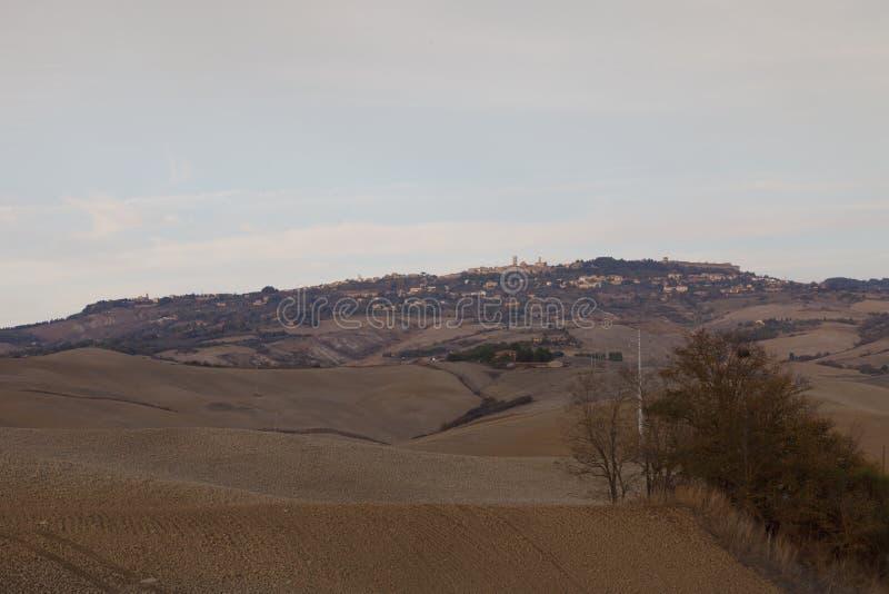 Paisaje típico de Toscana en otoño imágenes de archivo libres de regalías