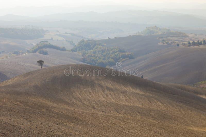 Paisaje típico de Toscana en otoño imagen de archivo libre de regalías