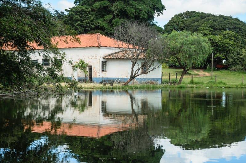Paisaje típico del campo del Brasil fotos de archivo