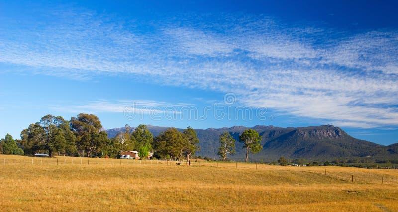 Paisaje tasmano panorámico fotografía de archivo libre de regalías