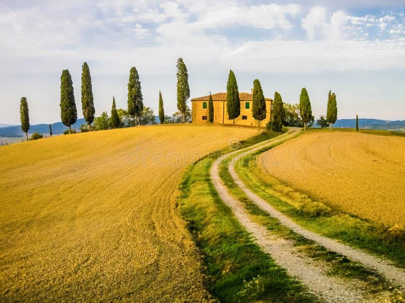 Paisaje toscano, Italia fotografía de archivo