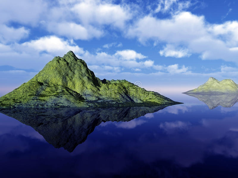 Paisaje Tropical Colorido Imagen de archivo libre de regalías