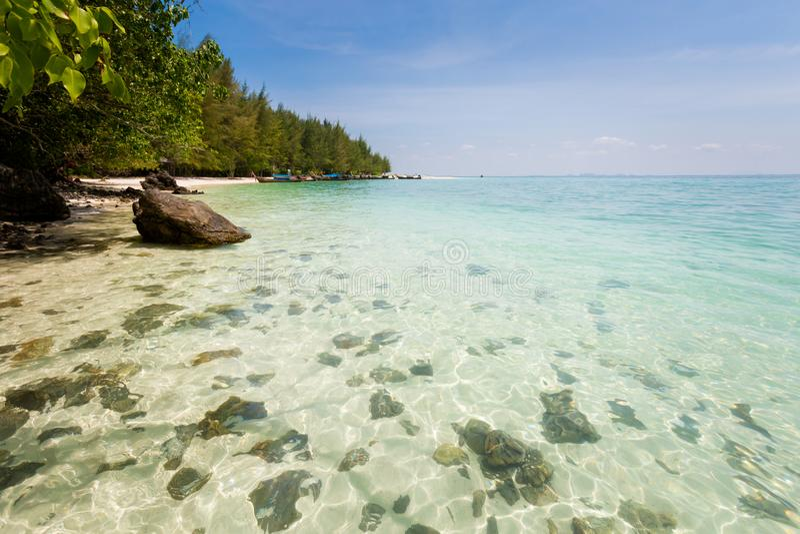 Paisaje tropical de Koh Poda fotografía de archivo