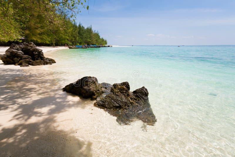 Paisaje tropical de Koh Poda fotos de archivo