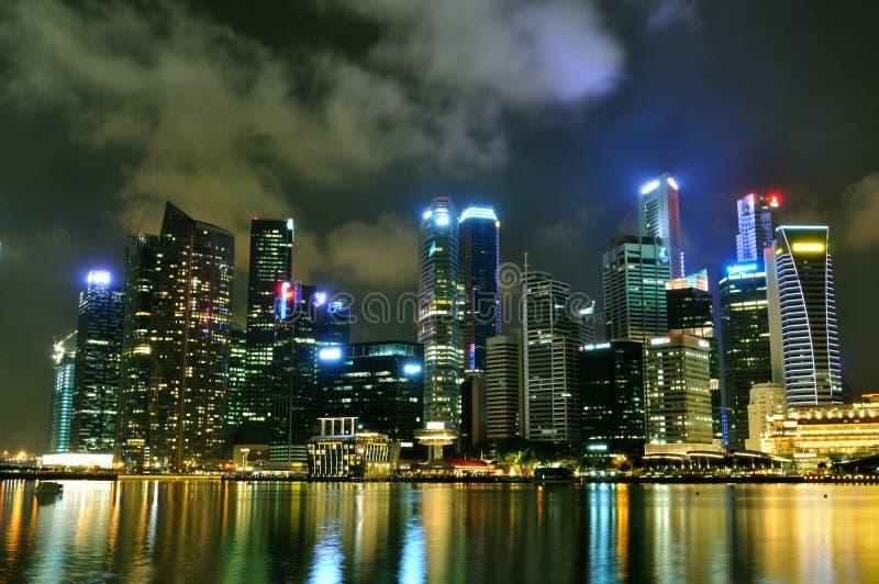 Paisaje urbano 1 de Singapur foto de archivo libre de regalías