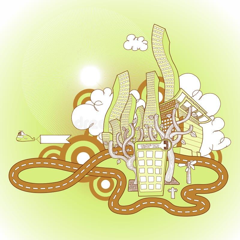 Paisaje urbano stock de ilustración