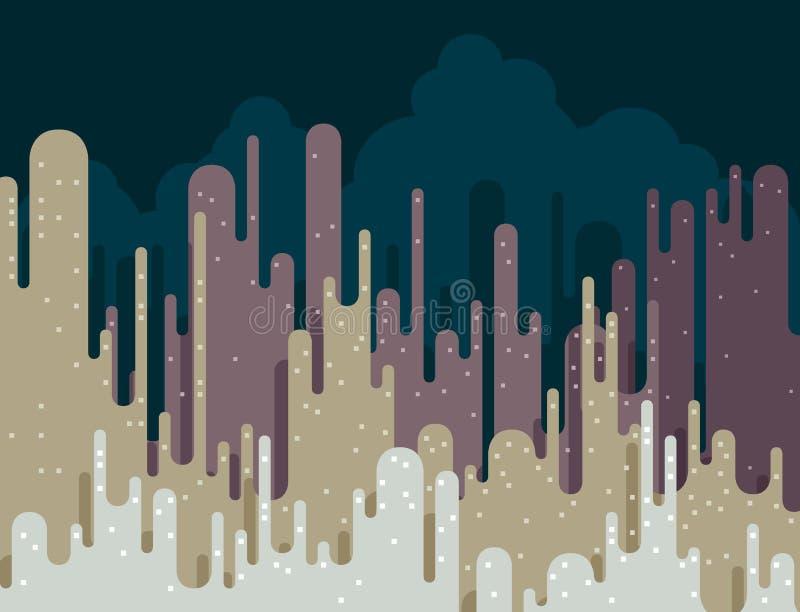 Paisaje urbano abstracto ilustración del vector