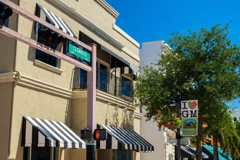 Paisaje urbano céntrico de West Palm Beach imagen de archivo libre de regalías