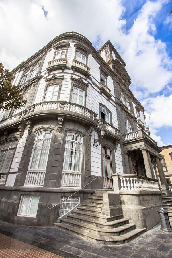 Paisaje urbano con las casas en Las Palmas, Gran Canaria, España imágenes de archivo libres de regalías