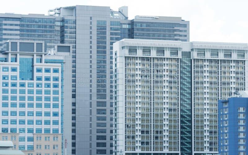 Paisaje urbano contemporáneo del edificio de oficinas de la arquitectura Negocio foto de archivo libre de regalías