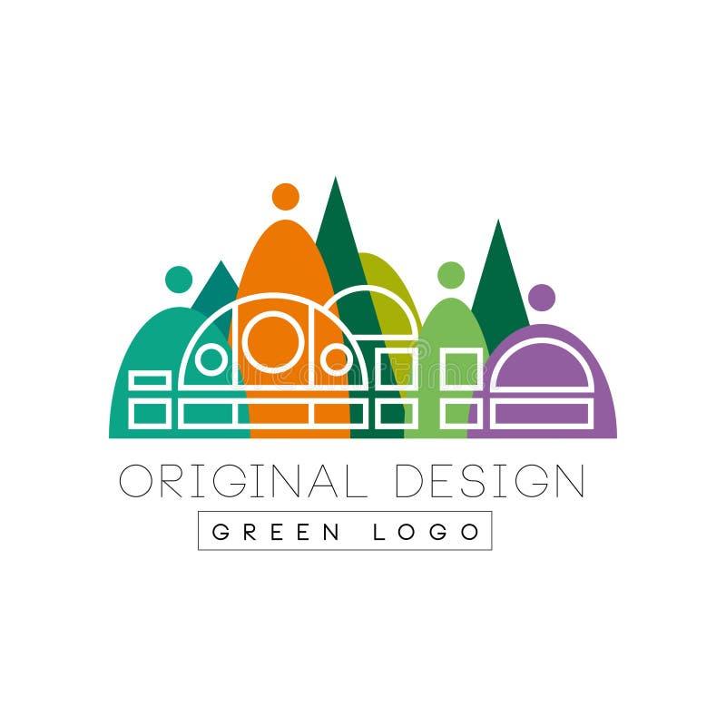 Paisaje urbano creativo con la alameda de compras de la ciudad en esquema stock de ilustración