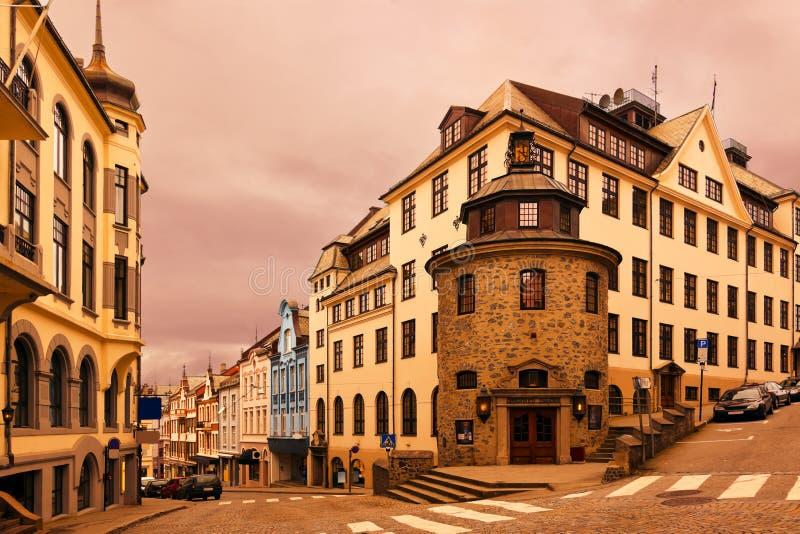Paisaje urbano de Alesund - Noruega imagenes de archivo