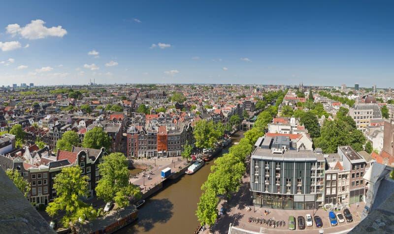 Paisaje urbano de Amsterdam fotografía de archivo libre de regalías