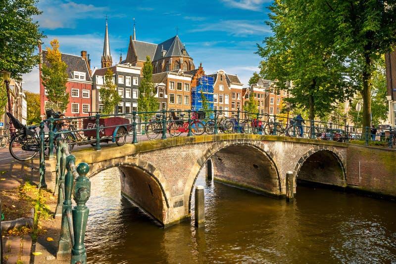 Paisaje urbano de Amsterdam imágenes de archivo libres de regalías