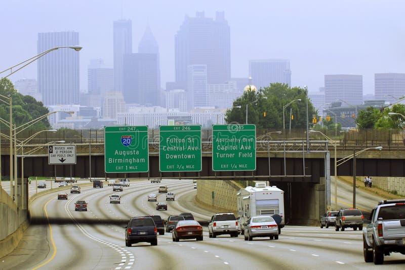Download Paisaje urbano de Atlanta foto de archivo. Imagen de vacaciones - 1276996