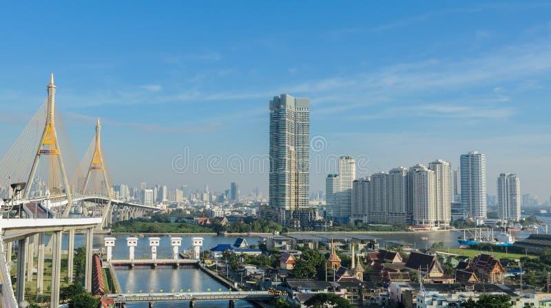 Paisaje urbano de Bangkok, capital de Tailandia fotos de archivo libres de regalías