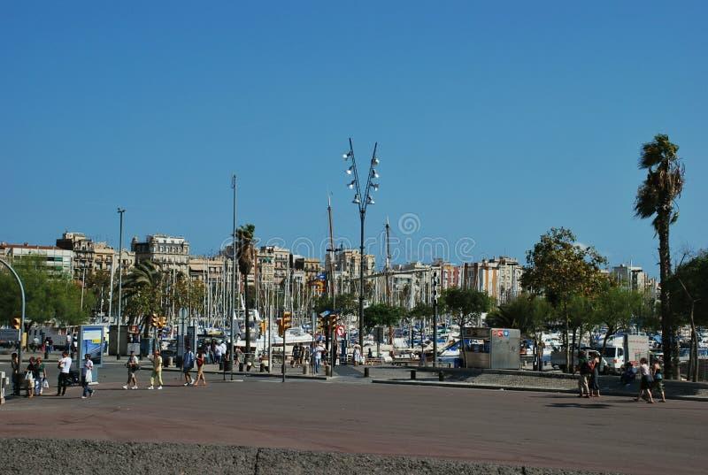Paisaje urbano de Barcelona España foto de archivo libre de regalías