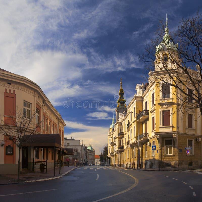 Paisaje urbano de Belgrado fotografía de archivo libre de regalías