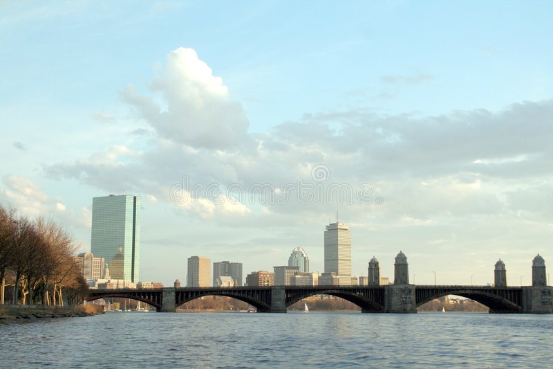 Paisaje urbano de Boston imágenes de archivo libres de regalías