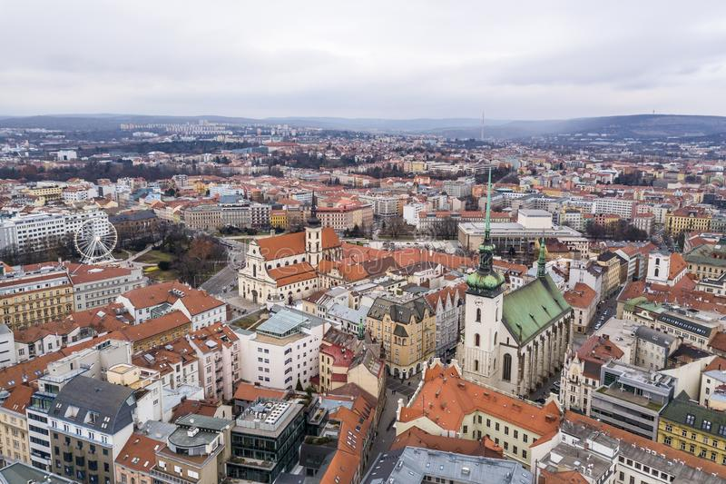 Paisaje urbano de Brno en República Checa foto de archivo