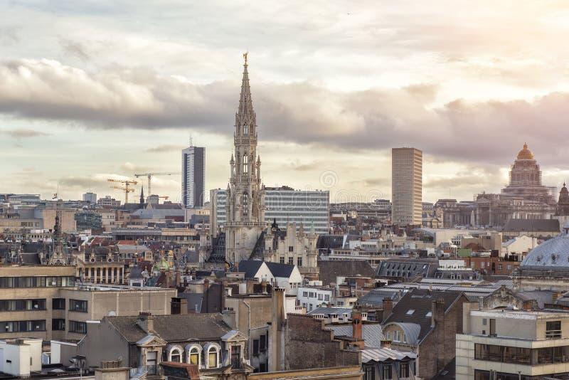 Paisaje urbano de Bruselas, Bélgica fotografía de archivo libre de regalías