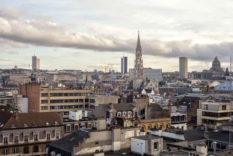 Paisaje urbano de Bruselas, Bélgica foto de archivo libre de regalías